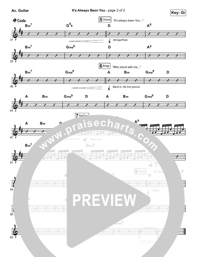It's Always Been You Rhythm Chart (Phil Wickham)