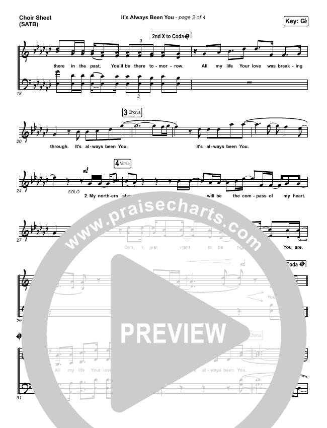 It's Always Been You Choir Sheet (SATB) (Phil Wickham)