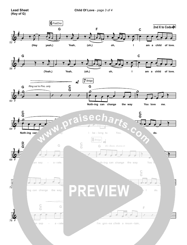 Child Of Love (Choral) Piano/Vocal Pack (Choral) (PraiseCharts Choral / We The Kingdom / Arr. Luke Gambill)