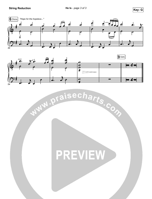 He Is (Choral) String Pack (PraiseCharts Choral / Crowder)