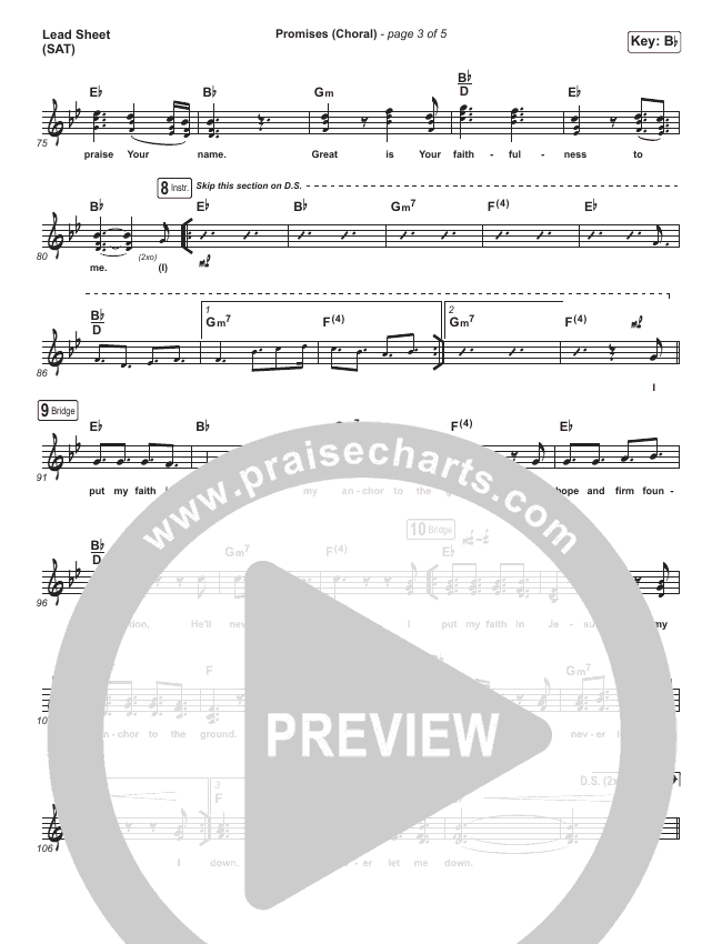 Promises (Choral) Piano/Vocal Pack (Choral) (PraiseCharts Choral / Maverick City Music / Arr. Luke Gambill)