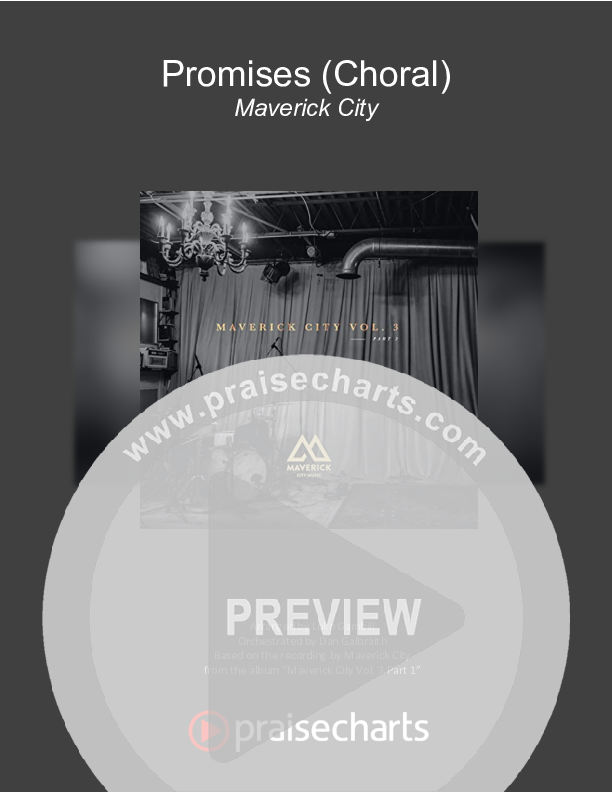 Promises (Choral) Orchestration (PraiseCharts Choral / Maverick City Music / Arr. Luke Gambill)