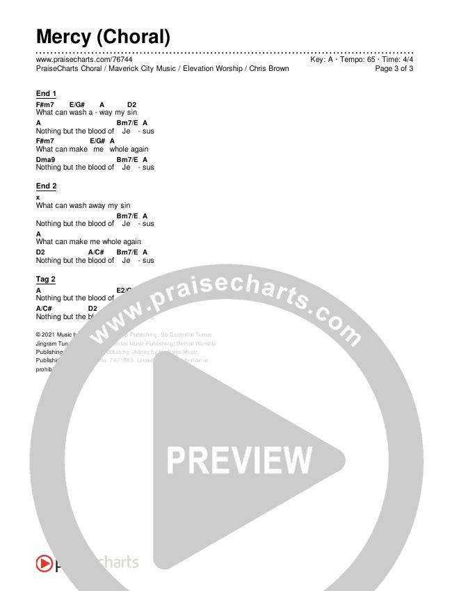 Mercy (Choral) Chords & Lyrics (PraiseCharts Choral / Maverick City Music / Elevation Worship / Chris Brown / Arr. Luke Gambill)