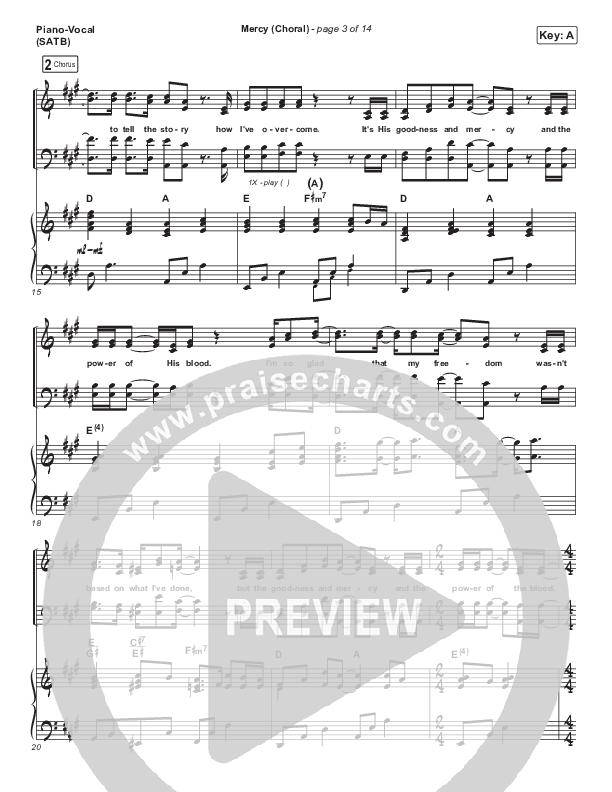 Mercy (Choral) Piano/Vocal (SATB) (PraiseCharts Choral / Maverick City Music / Elevation Worship / Chris Brown / Arr. Luke Gambill)
