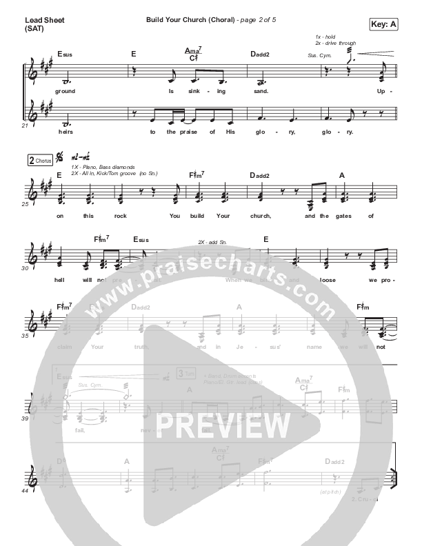 Build Your Church (Choral) Piano/Vocal Pack (Choral) (PraiseCharts Choral / Maverick City Music / Elevation Worship / Arr. Luke Gambill)
