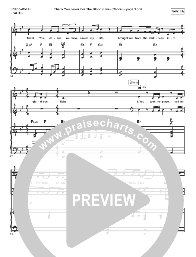 Thank You Jesus For The Blood (Choral) Orchestration (PraiseCharts Choral / Charity Gayle / Arr. Luke Gambill)