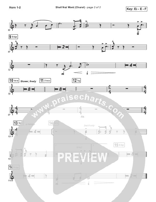 Shall Not Want (Choral) Brass Pack (PraiseCharts Choral / Maverick City Music / Elevation Worship / Arr. Luke Gambill)