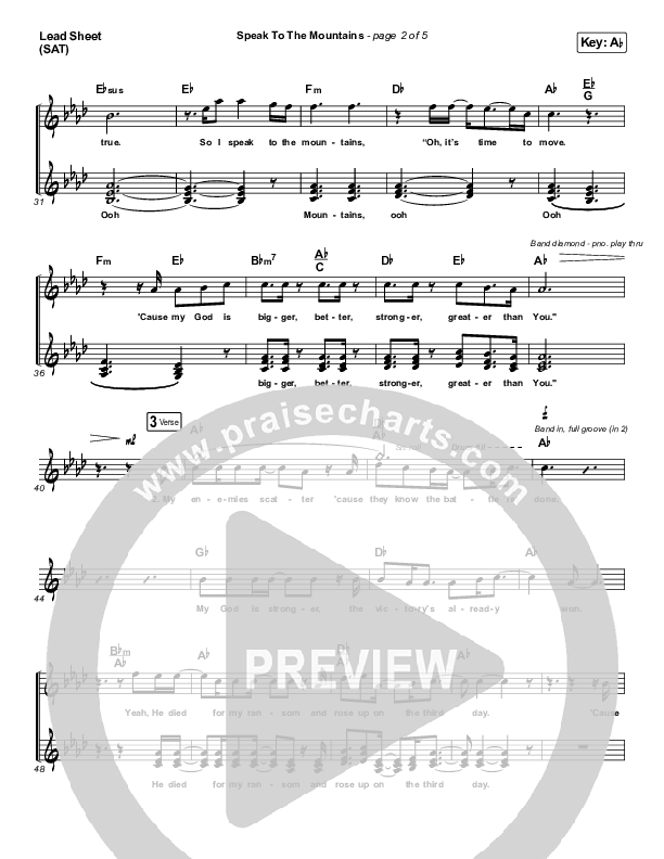 Speak To The Mountains Orchestration (Chris McClarney)