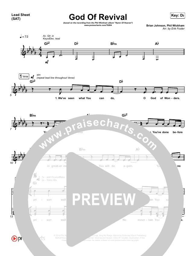 God Of Revival Lead & Piano/Vocal (Phil Wickham)