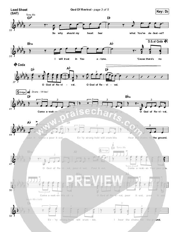 God Of Revival Lead Sheet (SAT) (Phil Wickham)