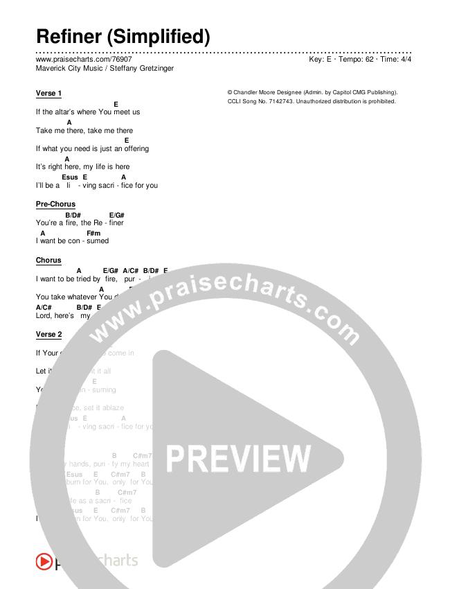 Refiner (Simplified) Chords & Lyrics (Maverick City Music / Steffany Gretzinger)