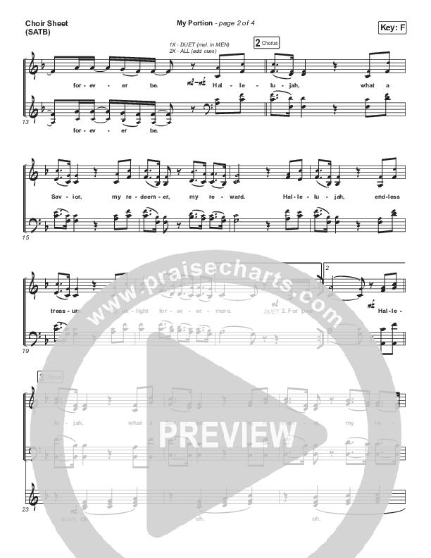 My Portion Choir Sheet (SATB) (The Worship Initiative / Shane & Shane)