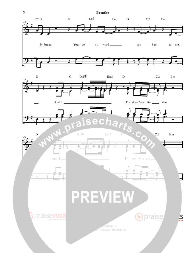 Breathe / Yearn Lead Sheet (PraiseVocals)