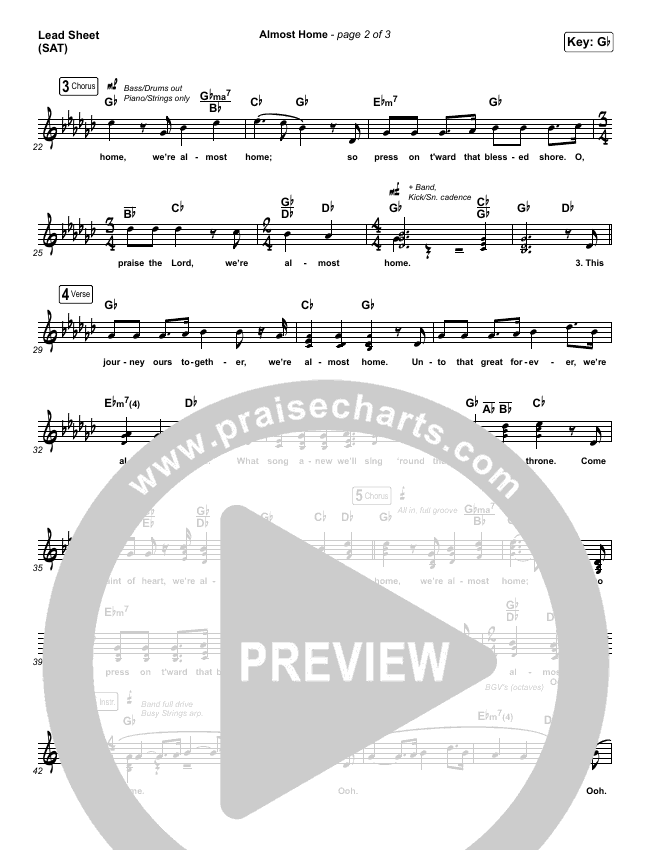 Almost Home Piano/Vocal Pack (Matt Boswell / Matt Papa)