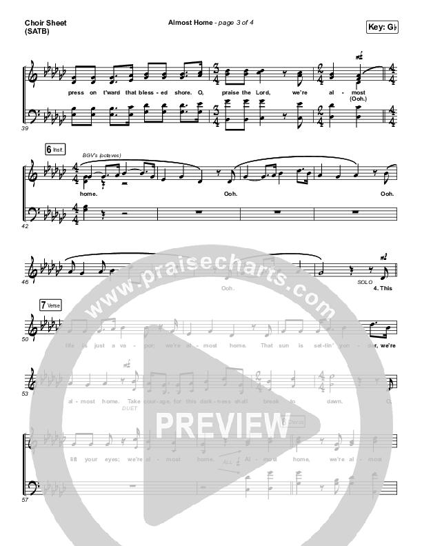 Almost Home Choir Sheet (SATB) (Matt Boswell / Matt Papa)