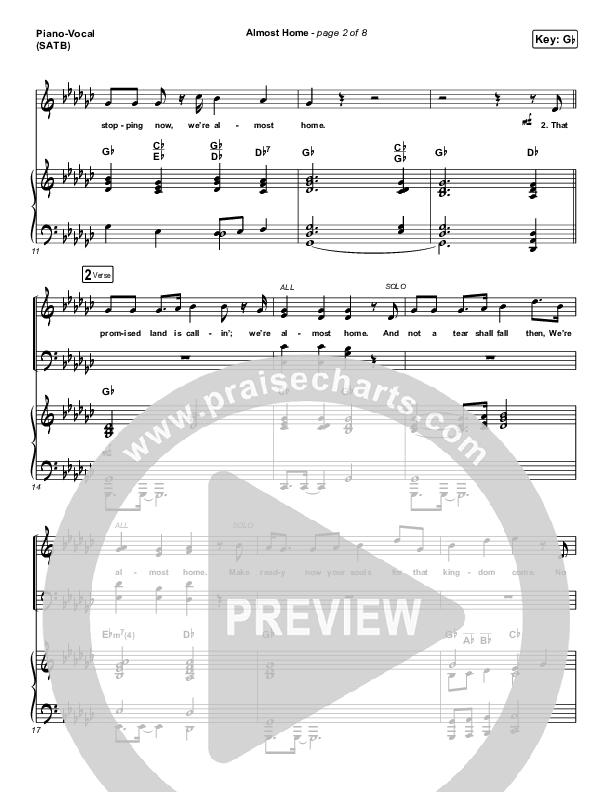 Almost Home Piano/Vocal (SATB) (Matt Boswell / Matt Papa)
