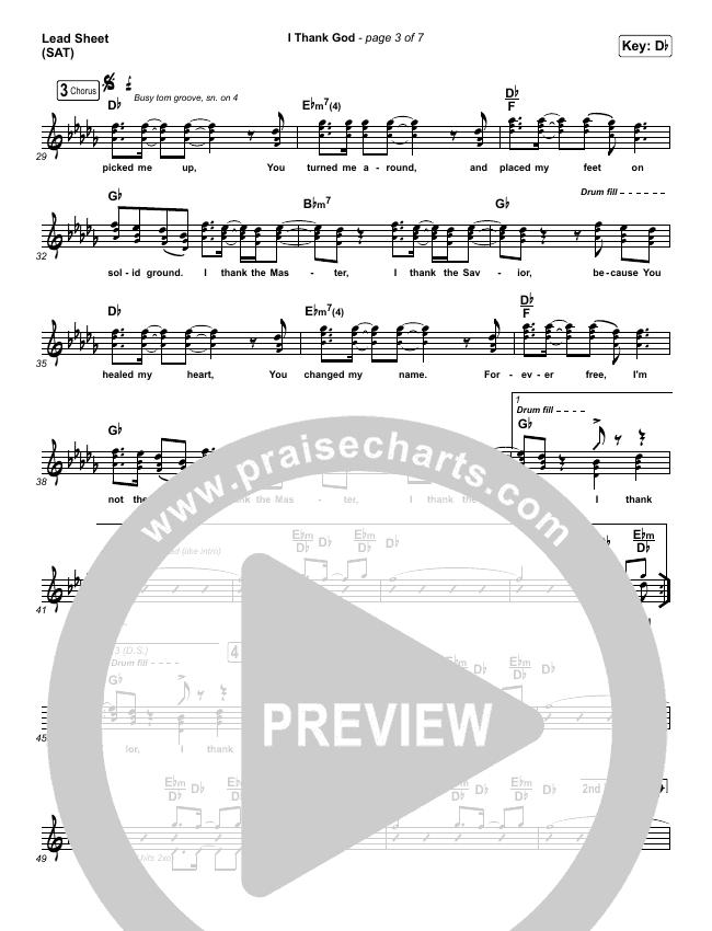 I Thank God Lead & Piano/Vocal (Maverick City Music / Dante Bowe / Aaron Moses / Maryanne J. George / Chuck Butler)