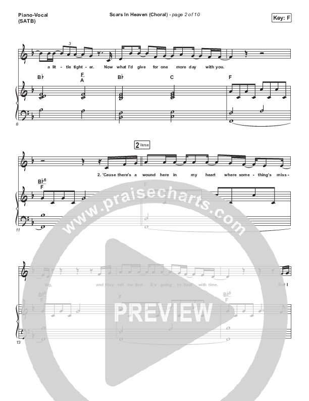 Scars In Heaven (Choral) Piano/Vocal (SATB) (PraiseCharts Choral / Arr. Luke Gambill / Casting Crowns)