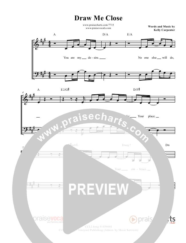 Draw Me Close Lead Sheet (PraiseVocals)