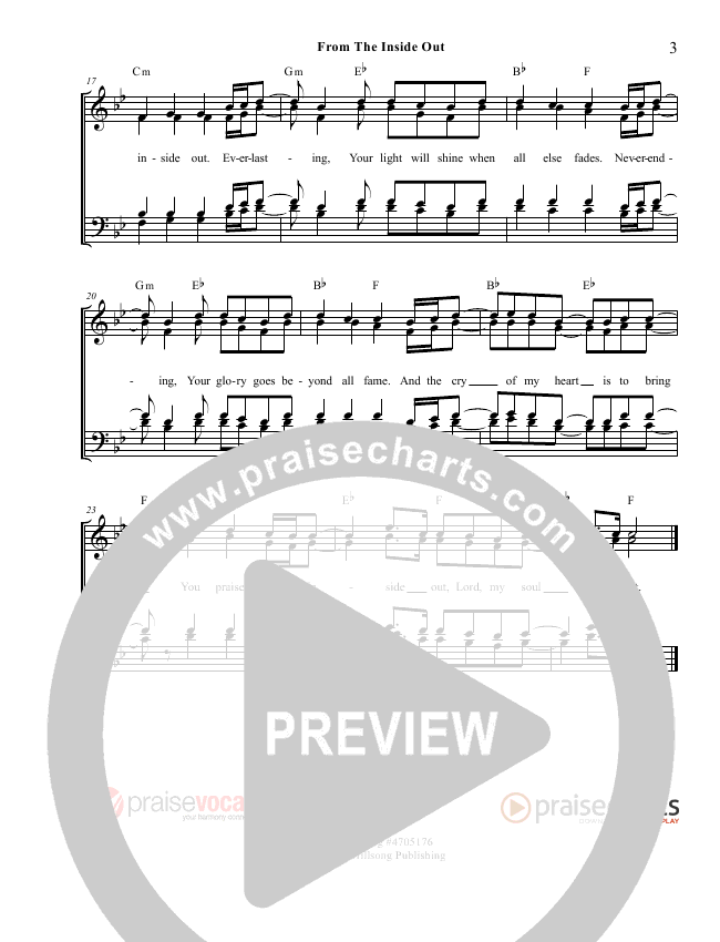 From The Inside Out Lead Sheet (PraiseVocals)