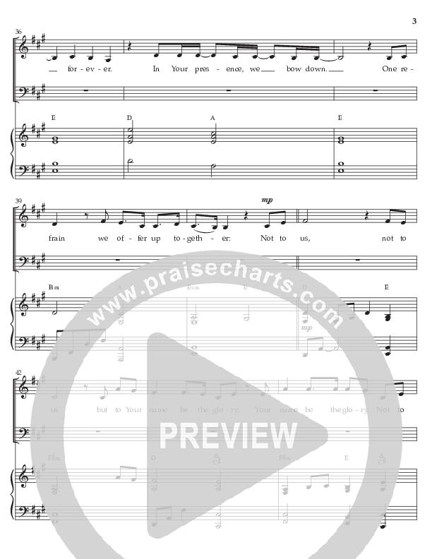 Not To Us (Choral Anthem) Choral Vocal Parts (Prestonwood Choir / Arr. Jonathan Walker)