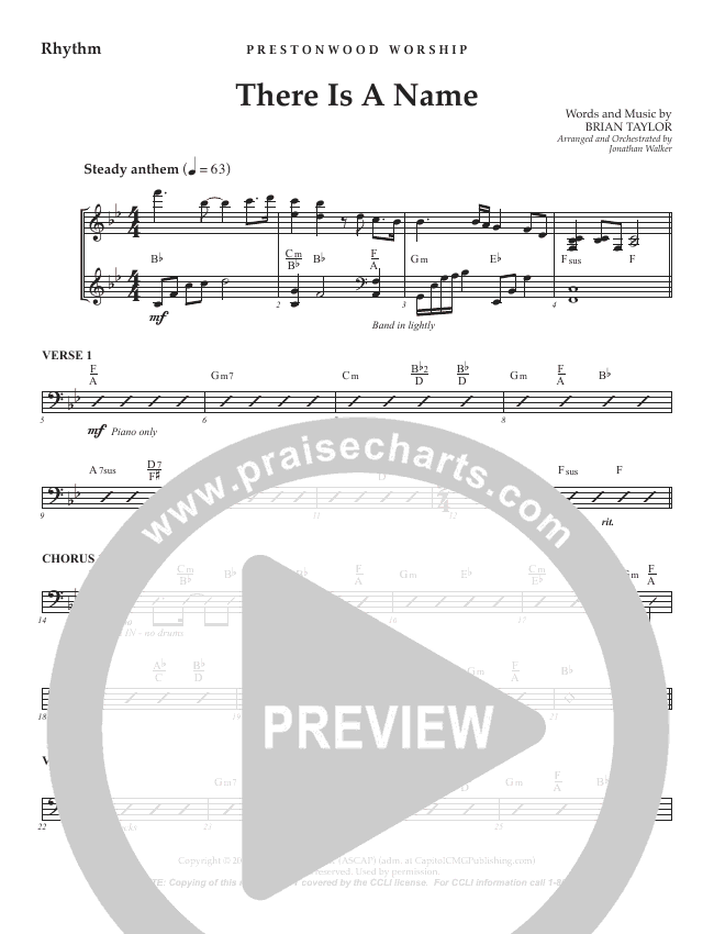There Is A Name (Choral Anthem) Orchestration (No Vocals) (Prestonwood Choir / Arr. Jonathan Walker)