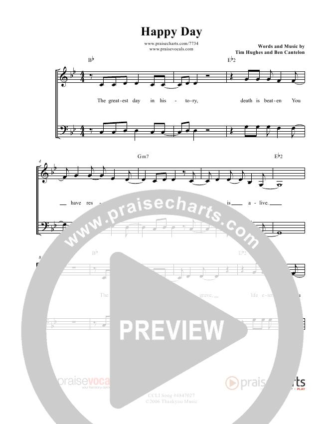 Happy Day Lead Sheet (PraiseVocals)