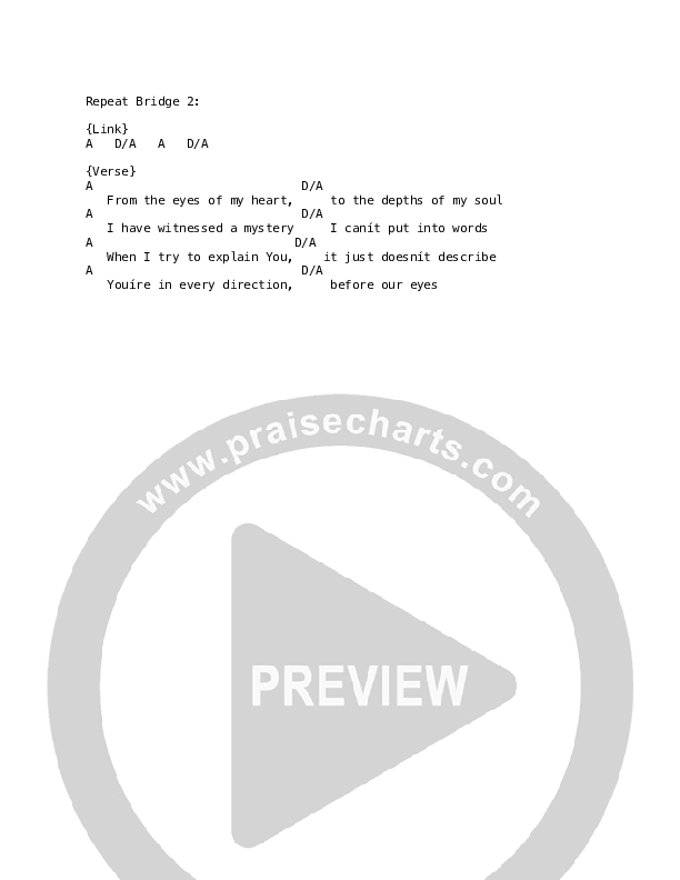 To Know You (Live) Chord Chart (Citizens)