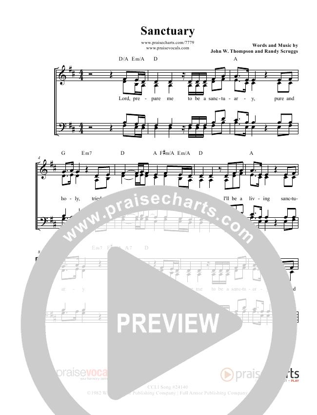 Sanctuary Lead Sheet (PraiseVocals)