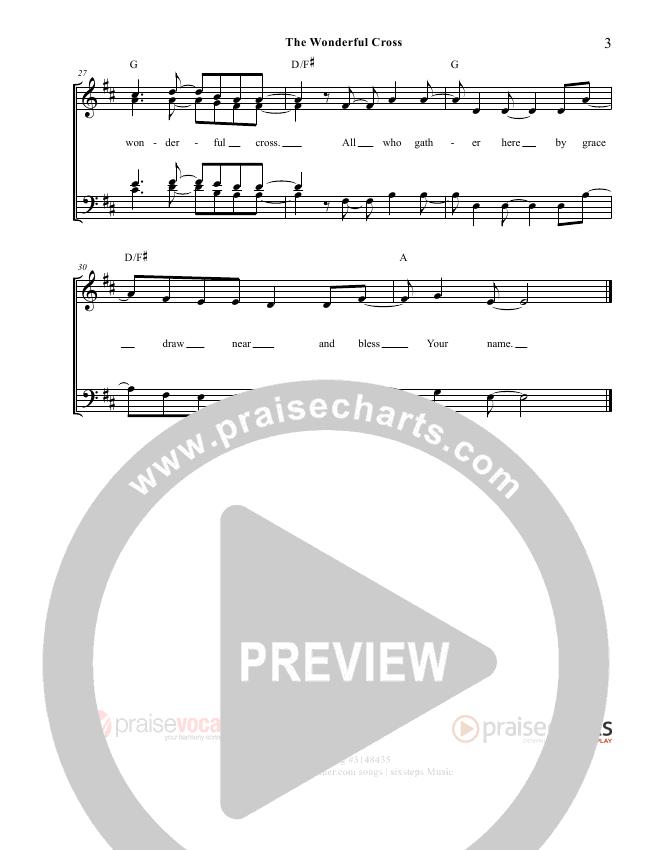 The Wonderful Cross Lead Sheet (PraiseVocals)