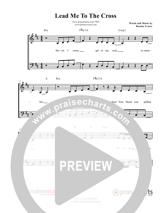 Lead Me To The Cross Lead Sheet (PraiseVocals)