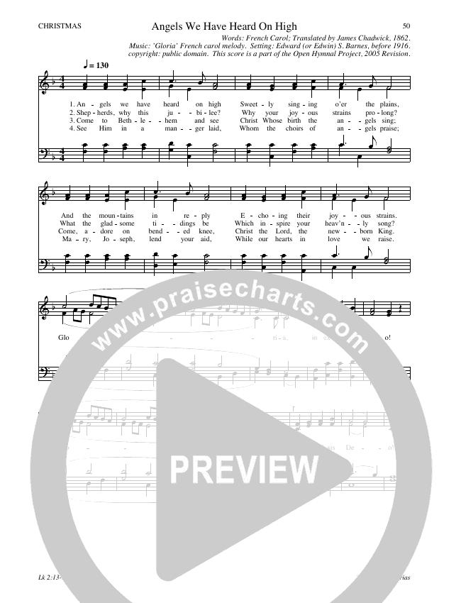 Angels We Have Heard On High Hymn Sheet (SATB) (Traditional Hymn)
