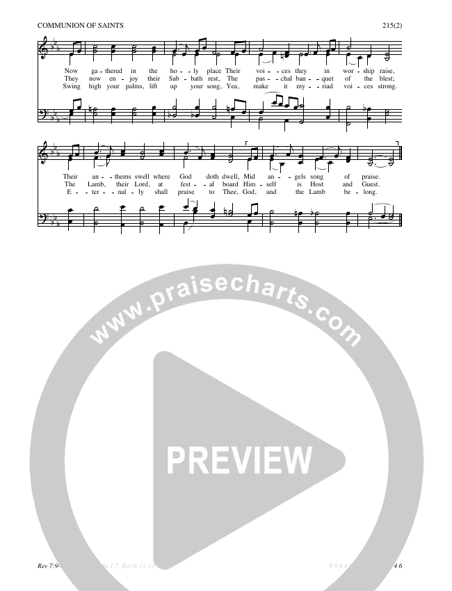 Behold A Host Arrayed In White Hymn Sheet (SATB) (Traditional Hymn)