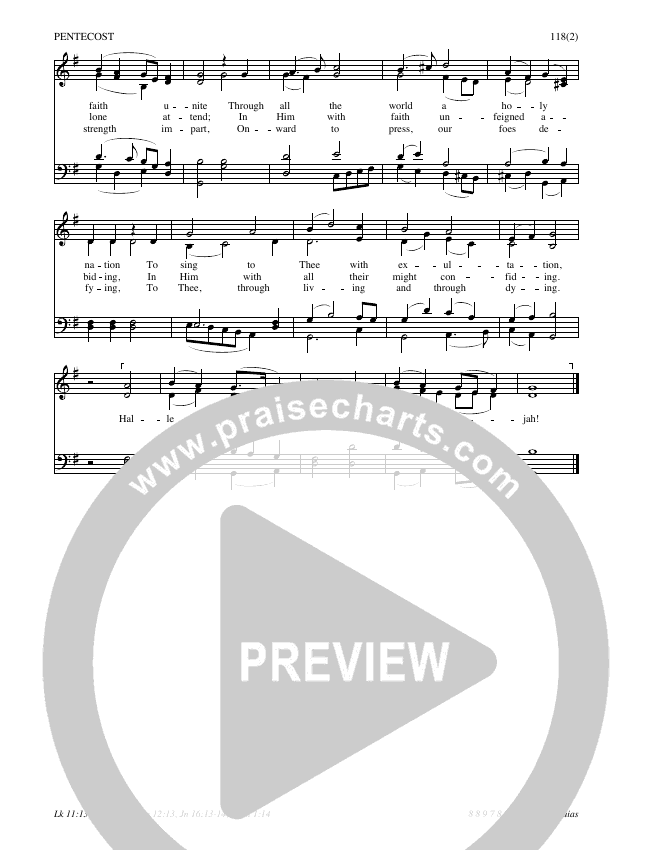 Come Holy Spirit Lord Our God Hymn Sheet (SATB) (Traditional Hymn)