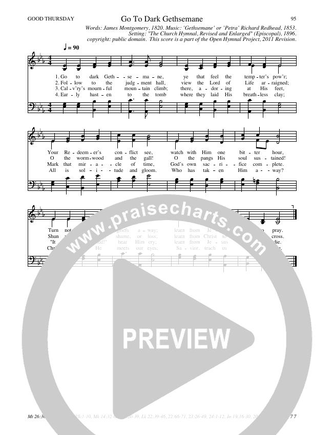 Go To Dark Gethsemane Hymn Sheet (SATB) (Traditional Hymn)