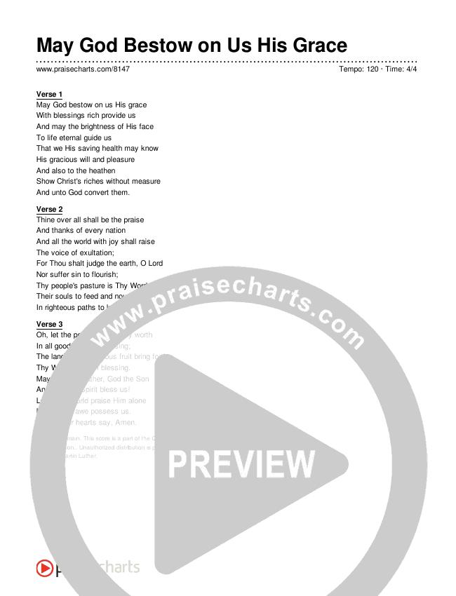 May God Bestow on Us His Grace Lyrics (Traditional Hymn)