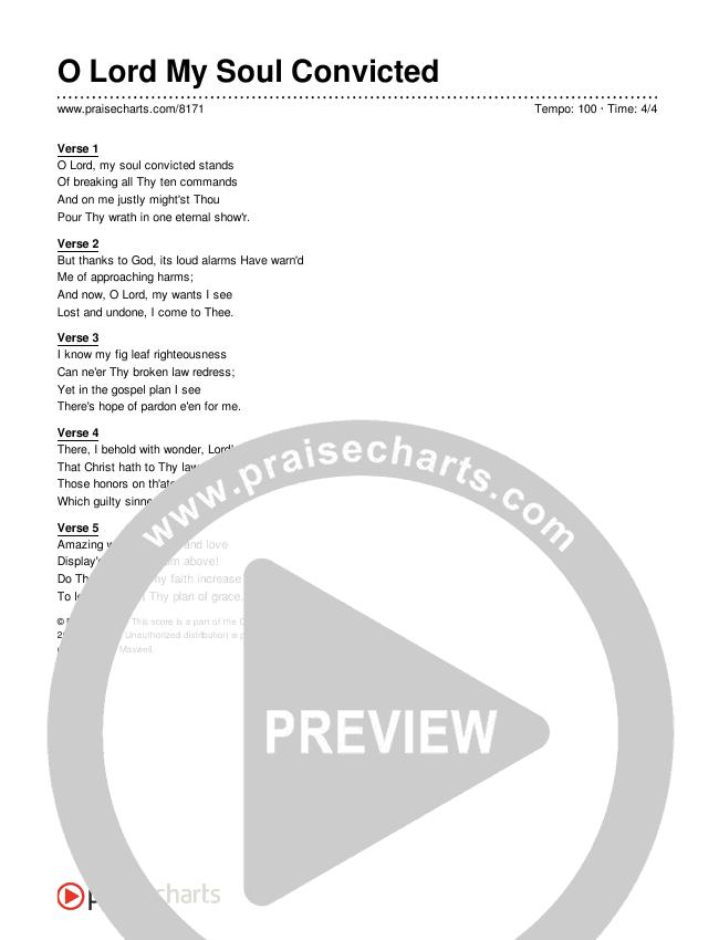 O Lord My Soul Convicted Lyrics (Traditional Hymn)