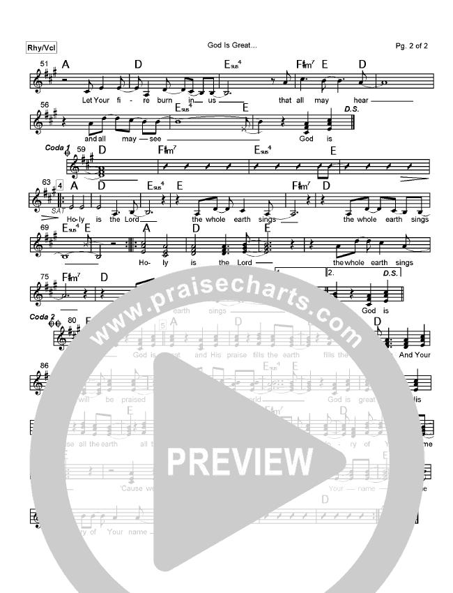 Creation's King Chord Chart (Paul Baloche)