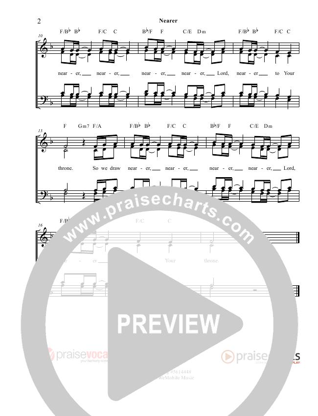 Nearer Lead Sheet (PraiseVocals)