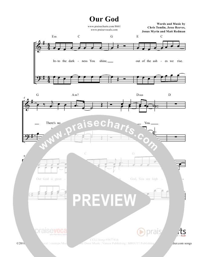 Our God  Lead Sheet (PraiseVocals)