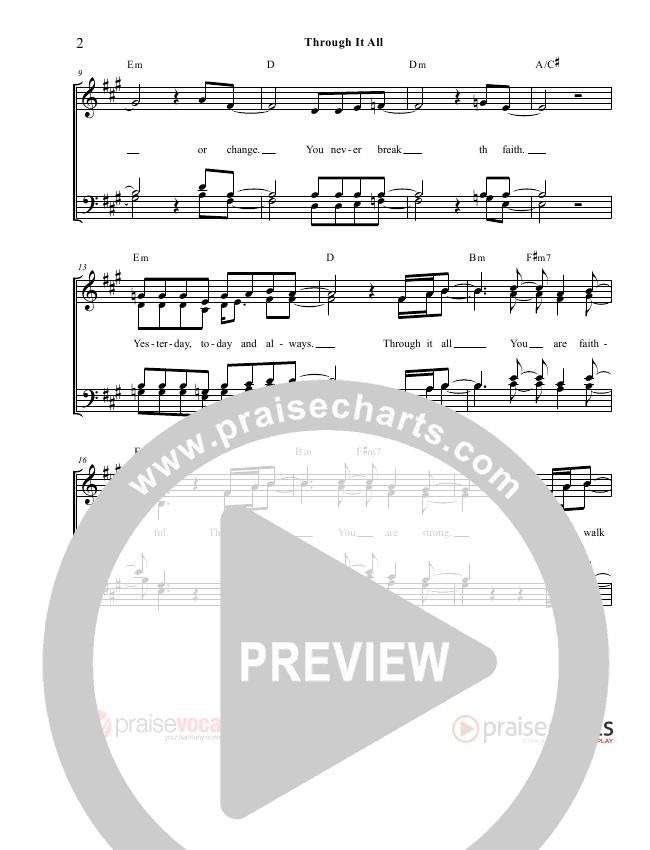 Through It All Lead Sheet (PraiseVocals)
