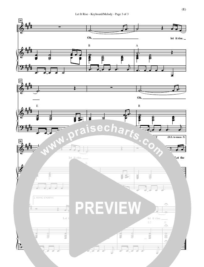 Let It Rise Piano Sheet (Holland Davis)