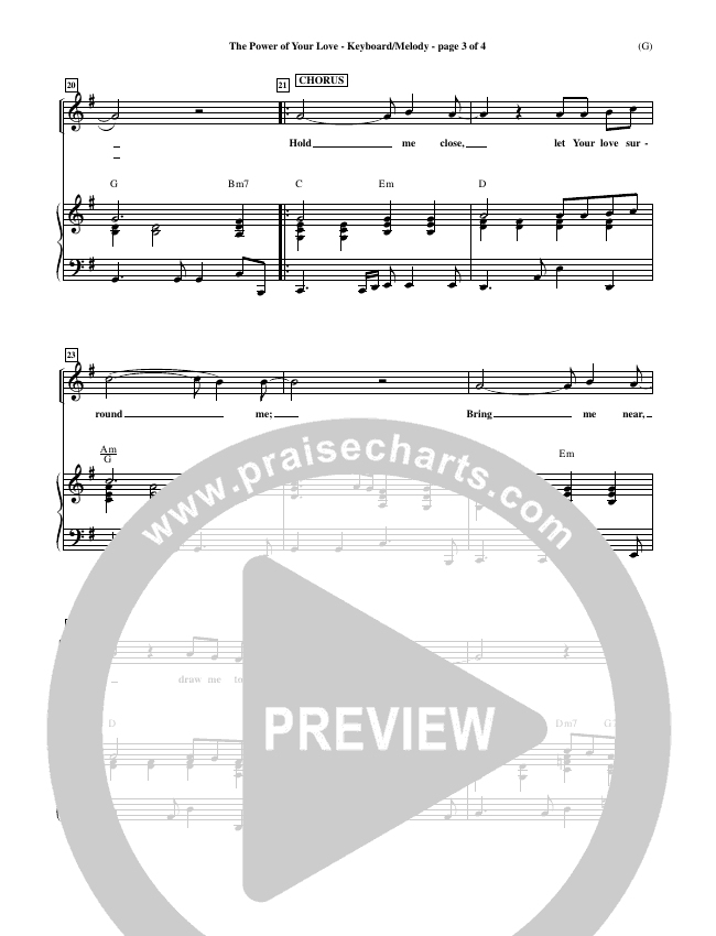 The Power Of Your Love Piano Sheet (Geoff Bullock)