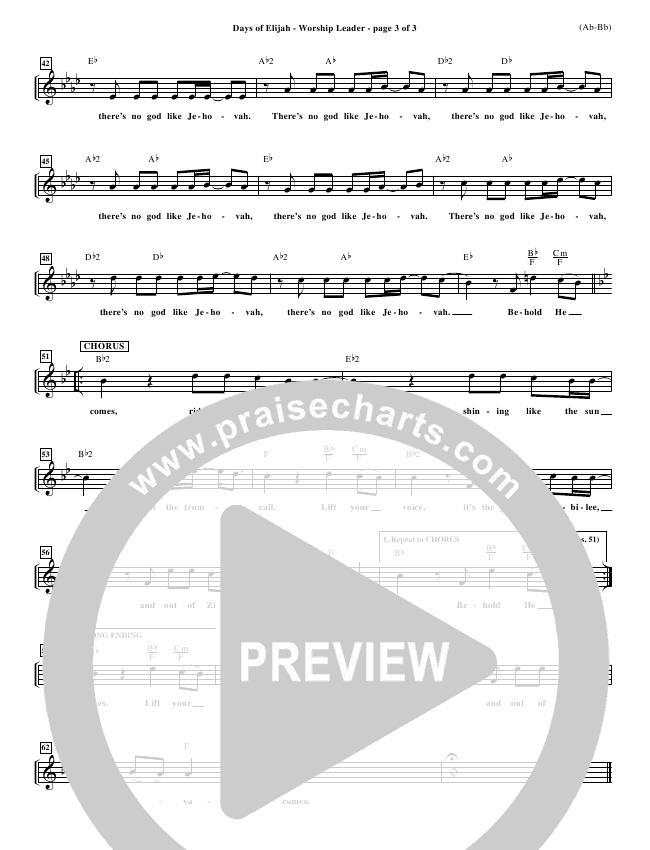 Days of Elijah Orchestration (Robin Mark)