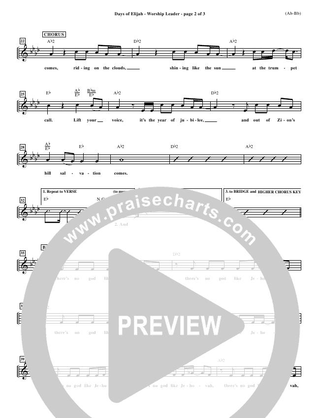 Days of Elijah Piano/Vocal Pack (Robin Mark)