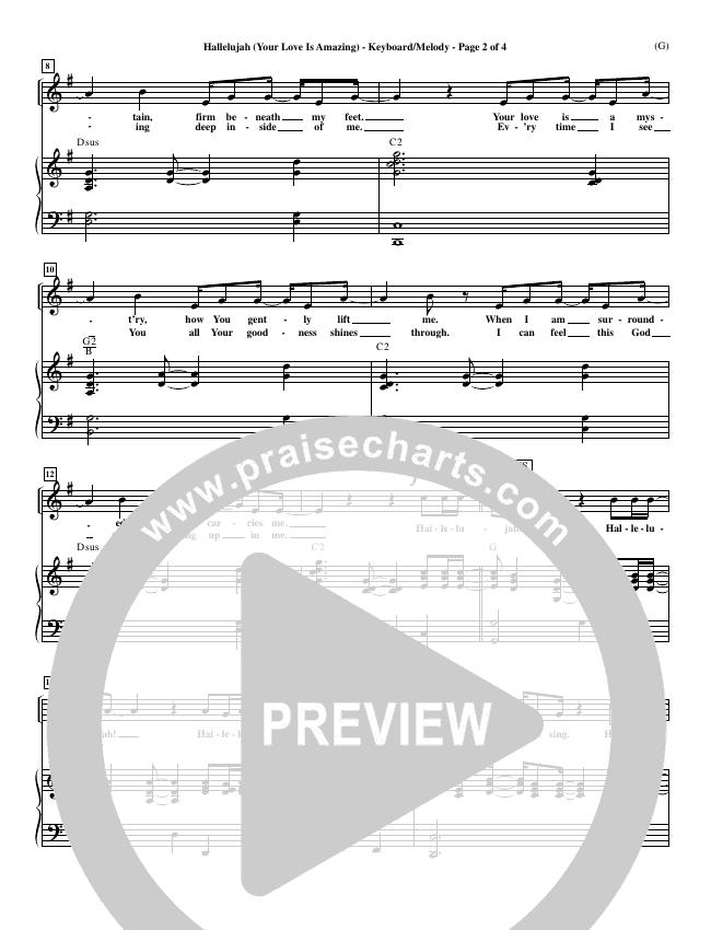 Hallelujah (Your Love Is Amazing) Piano Sheet (Brian Doerksen)