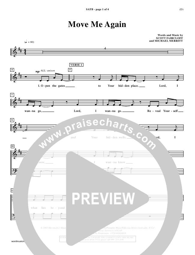Move Me Again Choir Sheet (SATB) (Scott Faircloff)