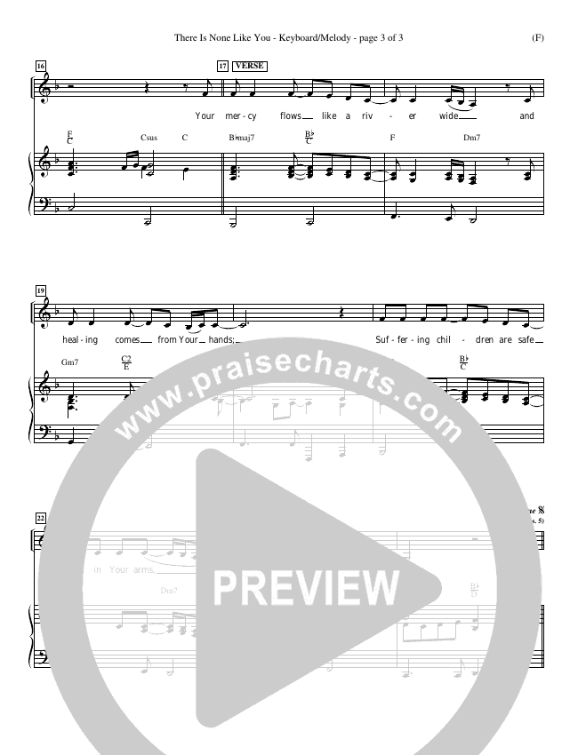 There Is None Like You Piano Sheet (Lenny LeBlanc)