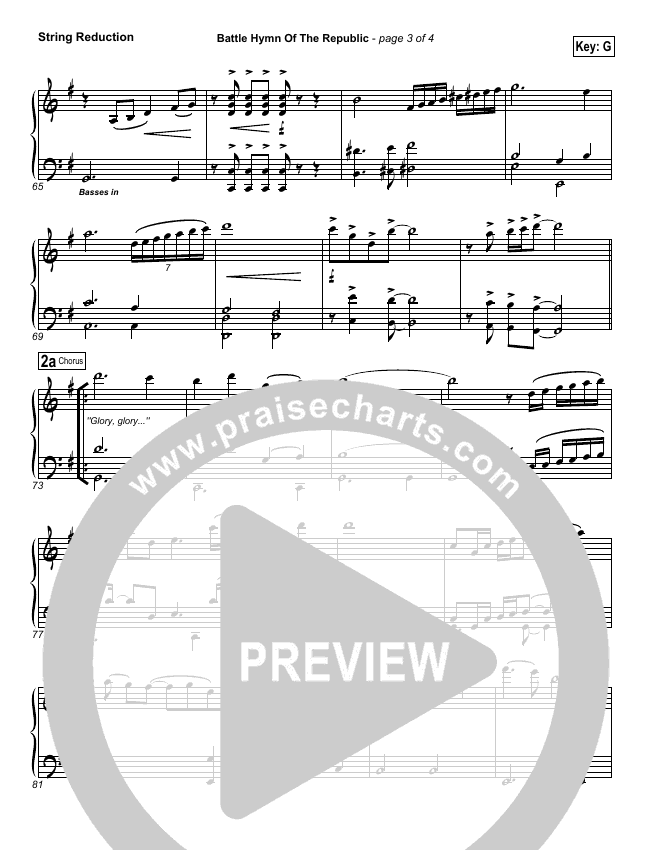 Battle Hymn Of The Republic String Pack (PraiseCharts Band)