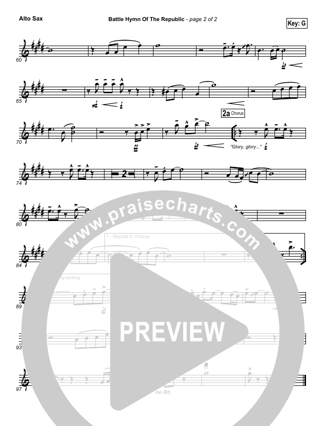 Battle Hymn Of The Republic Wind Pack (PraiseCharts Band)